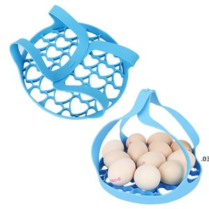 Silicone Portable Steamer Pressure Cooker Sling Silicone Steamer Lifter Accessories Kitchen Pot Drain Crock Mat Egg Insulated Tools FWA3673