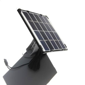 BUHESHUI 10W 5V Solar Panel Charger With 5 Meter Cable For Outdoor Security Rechargeable Battery Powered