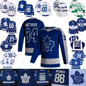 Toronto Maple Leafs Jersey Auston Matthews John Tavares Mitch Marner William Nylander Morgan Rielly Zach Hyman Frederik Andersen Jake Muzzin Alexander Kerfoot