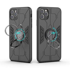 Titular de coche magnético anillo a prueba de golpes a prueba de golpes + Funda TPU para iPhone 12 11 Pro Max Samsung Galaxy Note 10 A50 Xiaomi