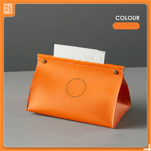 tissue box high-end paper box home living room creative napkin paper box car simple leather paper light luxury