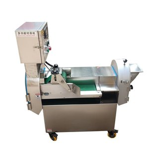 Food Processors Commercial Vegetable Cutting Machine For Restaurant Canteen Kitchen Double Head Dicing Slicer Shredding