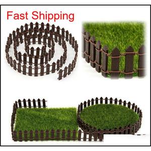 100*5cm 100*3cm Miniature Small Wood Fence Diy Fairy Garden Micro Dollhouse Plant Pot Decor Bonsai Ornament Whit qylltj bdenet