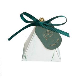 Triangle Diamond Marming Box regalo di nozze Carta Candy Boxes Baby Shower Imballaggio di cioccolato per la decorazione del partito