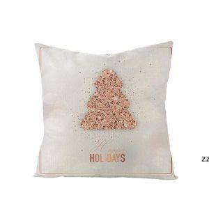 Christmas Pillow Case Letter Printed Throw Pillowcase Xmas Pillows Covers Farmhouse Cushion Cover Home Decor HWD10572