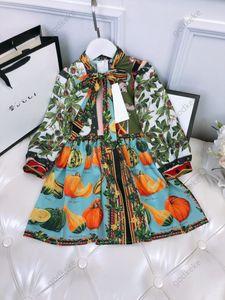 Наборы дизайнерские платья буква F Детские лук милый элегантный с коротким рукавом юбка роскошная роскошная девочка одежда кружевное платье принцессы