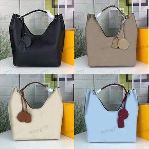 Damen Luxurys Designer Crossbody Bag Mahina Perforierte Kuhleder Umhängetaschen High-Capacity Shopping Tote Multi Knit Armband Handtasche