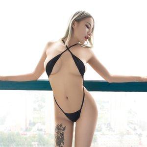 sexy micro bikini perspectiva cadena camisola desnuda exponer el vientre seksi bikinis traje de baño mujer una pieza traje de baño biquini