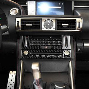Carbon fiber Center console CD navigation panel decoration car refitting interior Styling Interior for Lexus IS250 2013-2020