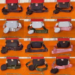2021 뜨거운 패션 핸드백 멀티 포치 accessoires 지갑 여성이 좋아하는 미니 3pcs 세트 콤비네이션 럭셔리 크로스 바디 가방 어깨 가방