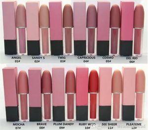 Mais novo Matte Liquid Rouge Lip Gloss / Batom 4.5g de boa qualidade Melhor mais vendida Doze cores diferentes