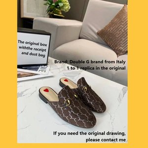 Veuillez faire attention aux détails des pantoufles de designer italiennes fabriquées en Chine