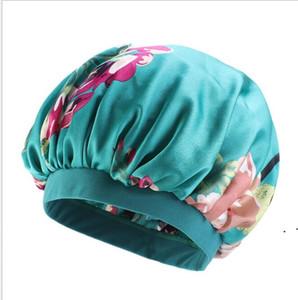 NightCap Turban Floral Print Chapeau Head Head Head Turban Fleur doux confortable en soie imitation de chimiothérapie CAP OWC6420