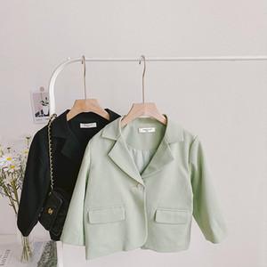 AmbB Quality Insters Enfants Garçons Filles Blazer Outwears Manteau Casual Blazers Spring Automne Coton Full Manches Veste