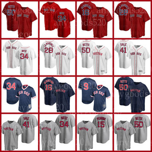 Red Sox Jersey J.D. Martinez Boston David Ortiz Bbaseball Chris Sale Ted Williams Rafael Devers Bobby Dalbec Enrique Hernandez Alex Verdugo Adam Ottavino Franchy Cord
