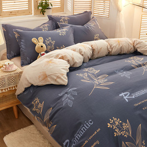 Winter 3 4 piece 100% cotton Large comforter King Queen size bedding set luxury home textile C0223