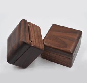 Schmuckschatulle Kreative Holz Ring Ohrring Box Anhänger Schmuck Aufbewahrungsbox Schwarz Walnut Ohrring Case Massivholz Boxen WWA191