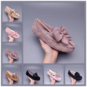 UGG Dakota Pom Peas Shoes MEJOR venta de alta calidad Hot Wgg Sale-er Botas Mujeres Hombre Clásico Botas de nieve de invierno poco profundo Botas de invierno zapatos 35-43