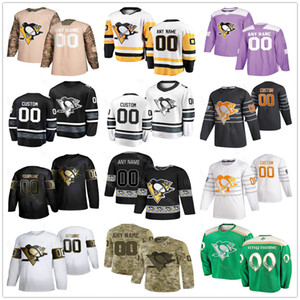 Pittsburgh Penguins Jersey Hombres Mujeres Sidney Crosby Kris Letang Bryan Rust Sam Lafferty Dominik Kahun Matt Cullen Hockey Jerseys Personalizados