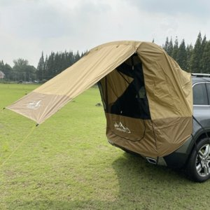 Outdoor self-driving tour barbecue camping car tail extension tent sunshade rainproof car travel tent trunk tent