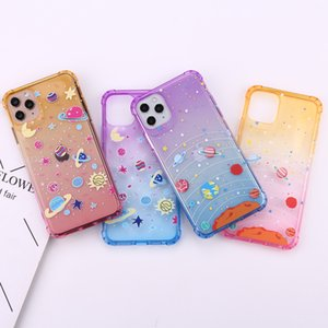 Luxus-Telefon-Fälle für iPhone 11 PRO MAX XS XR 7 8 6 Plus 5 SE 2020 Case Cover Süße Bunte Space Moon Star Weiche TPU Back Coque