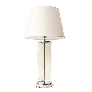 Led Table Lamp Transparent Glass Cylinder Table Lamp Night Light Desk