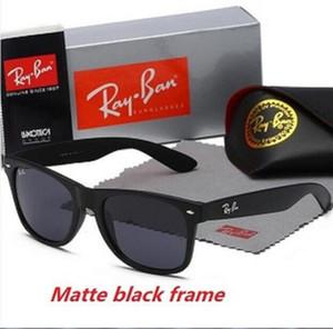 Высокое качество New Ray Men Женщин Солнцезащитные очки Винтажные Пилотные Бренд Солнцезащитные Очки Band UV400 Bans Ben Солнцезащитные очки с коробкой и корпусом 2140 R6