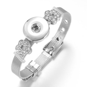 Pulseras de encanto Multi acero inoxidable 18 mm botón de brazalete de brazalete para DIY SZ0452