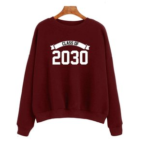 Klasse von 2030 Frauen Alphabet Long Sleeve Pullover YY0012 Hoodies