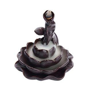 1 قطعة بذل الخلعة مبخرة السيراميك اللوتس رائحة الموقد الإبداعية لوتس شكل مبخرة حساسة البخور المنزلية للمنزل ر
