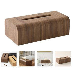 Tissue Boxes & Napkins 1Pc Wooden Box Creative Practical Tabletop Holder (Brown)