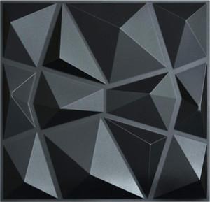3D Paneling Textured 3D Wall Design Black Diamond 500mm*500mm Matt black WallStickers Wallpaper Premium quality PVC 3d wall panels