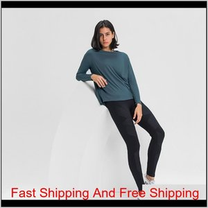 Luyogasports Lu Tops Running Loose Long-sleeved Women's Slim Fit Shirt Breathable Women's Training Fitness Lu Yoga qylEoW five2010