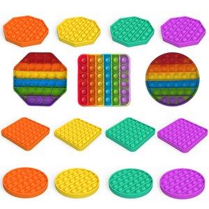 Push Pop Bubble Fidget Sensory Toy Autism Needs Deal Stress Reliever Giocattoli per bambini Adulti Bambini divertenti Antistress Fidget Giocattoli