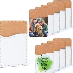 Kreative Sublimation leeres Leder Mobiltelefon Aufkleber Favor Wärmeübertragung DIY Kartenhalter ID Lagerung 9.7 * 6,6 cm 925 B3