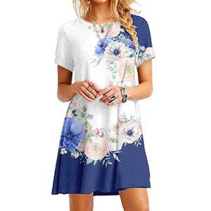 () Drucken Miniskirt Princess Dress Casual