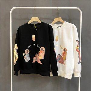 3d Digital Jesus Is King Sweatshirts Streetwear Loose Kanye Pullover Sweatshirtsebfh