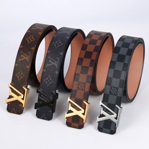 LVLOUISVITTONluxury belt men women universal smooth buckle leather belt leisure belt old flower checkerboard
