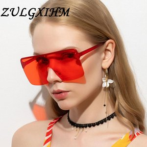 Zulgxihm Retro Cat Eye Sonnenbrille Frauen Randlose Geschenk Party 2021 Vintage Sonnenbrille Für Männer Spiegellinse Half Frame