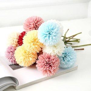 Künstliche Blumen Tischtennis Chrysantheme Dekorationen Blume Löwenzahn Hochzeit Dekoration Anordnung Blume Künstliche Daisy GWF5211
