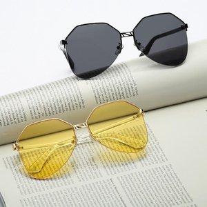 Nouvelle tendance coréenne Femmes Lunettes de soleil Retro Metal Ocean Lentilles Lunettes de soleil pour hommes et femmes Oloey Marque Conduite surdimensionnée UV400 Oculos