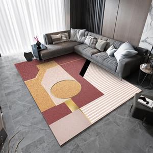 Modern simple living room bedroom carpet Nordic geometric stripe carpet mat