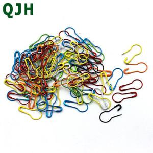 Вязание вязание вязания крючком, блокировку стежка гангтега безопасности Pins Pins DIY Швейные инструменты иглы клип ремесел аксессуар QJH красочные 100 шт. / Лот