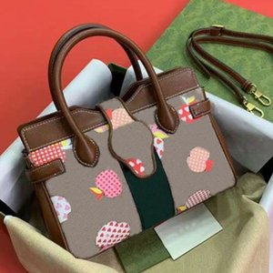 Designer Handbags Evening Bags fruit patterns printed letters rhombus decoration crossbody bag leather canvas material casual style design