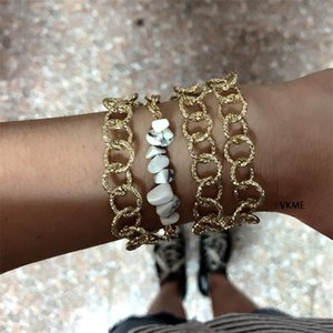 VKME Multi-layer cuban link chain Bracelets CHARM Fashion Women Bracelet BOHEMIA Vintage Jewellery