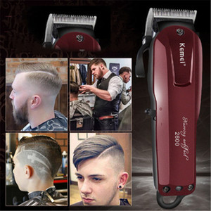 DHL Electric clippers Professional Electric Hair Trimmer Beard Shaver 100-240V Rechargeable Hair Clipper Titanium Knife Hair Cutting Machine