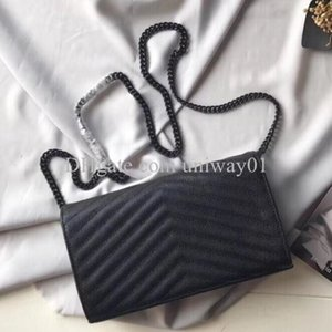 Alta Qualidade Genuíno Bolsa de Couro Mulheres Saco Caixa Original Caixa Caixa De Bolsa Embreagem Mensageiro Mensageiro Cross Body Caviar Lambskin