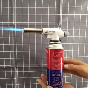 Tools & Accessories BBQ Butane Torch Adjustable Flame With Safety Lock Camping Baking Welding Gas Style 2021