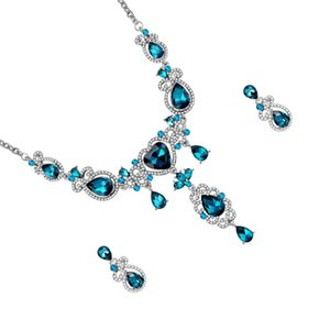 Earrings & Necklace 1 Set Clavicle And Ear Jewelry Wedding Bride Neck Pendant