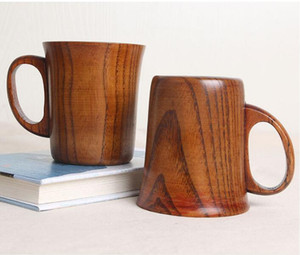 Coffee Mugs Wood Environmental Protection Renewable Log Wooden Tea Mug Roses Green Tea Cup Milk Cups OOB4963